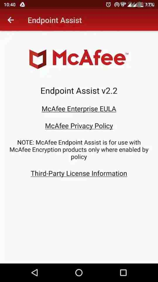 McAfee Mobile Security and Lock for android