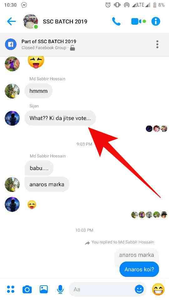 how to turn on threaded reply on messenger