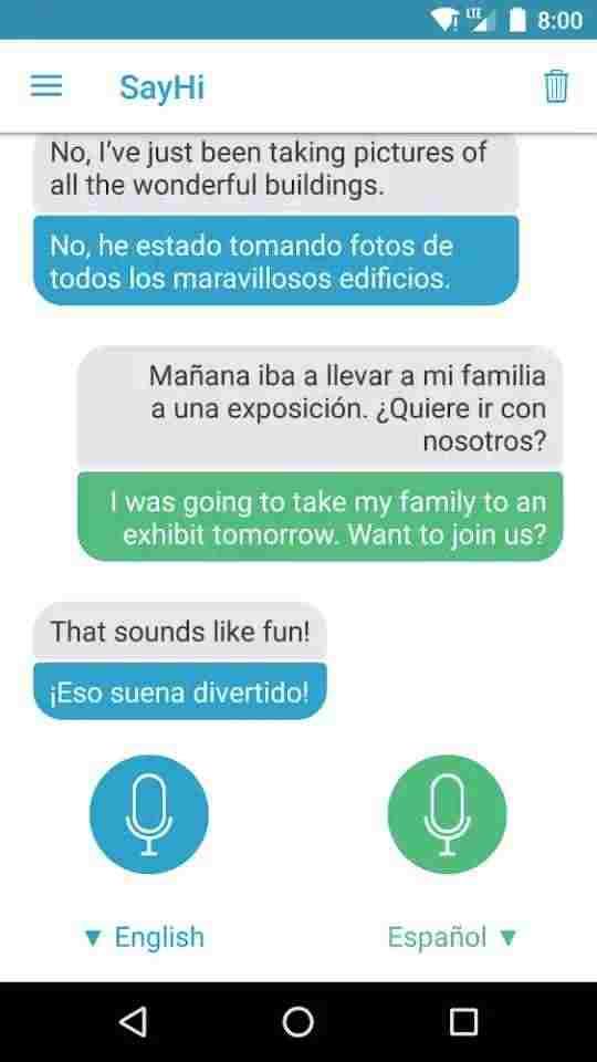 SayHi Translate translation app