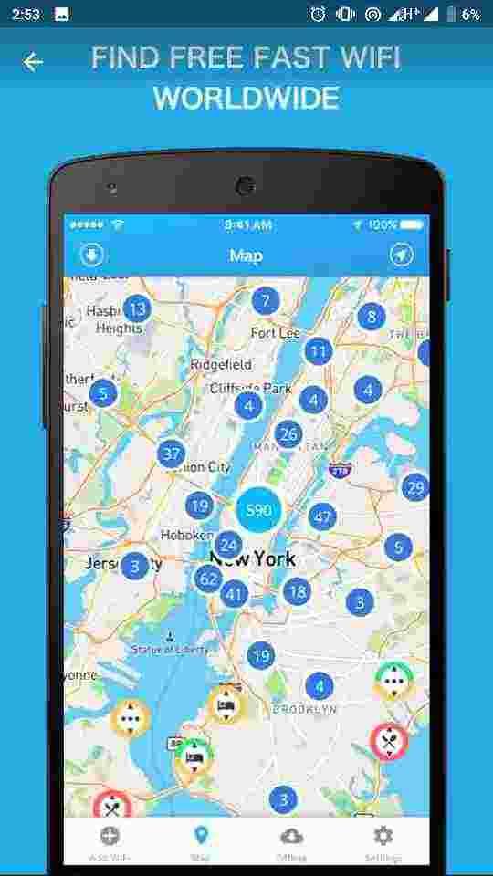 Free Wi-Fi map (wiman)
